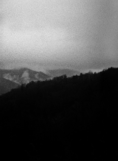Black and White Photograph Great Smoky Mountains