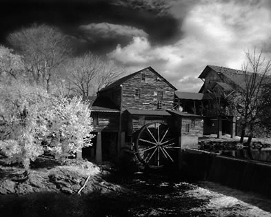 Black and White Photograph Old Mill #2