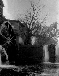 Black and White Photograph Old Mill in Pigeon Forge